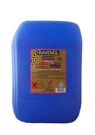 Антифриз готовый к прим. лила RAVENOL Dauerkuhlflussigkeit -40°C silikatfrei (20л)