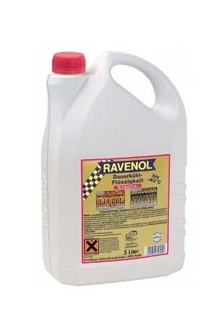 Антифриз готовый к прим. лила RAVENOL Dauerkuhlflussigkeit -40°C silikatfrei (5л) *