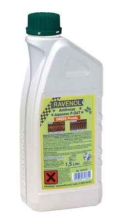 Антифриз готовый к прим. зеленый RAVENOL Antifreeze Japanese P-OAT GREEN Premix (1,5 л)