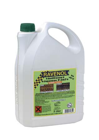 Антифриз готовый к прим. зеленый RAVENOL Antifreeze Japanese P-OAT GREEN Premix (5 л)
