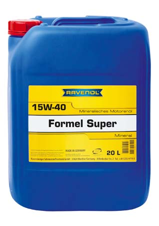 Моторное масло RAVENOL Formel Super SAE 15W-40 SF-CD (20л) new