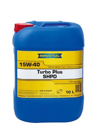 Моторное масло RAVENOL Turbo plus SHPD 15W-40 (10л) new