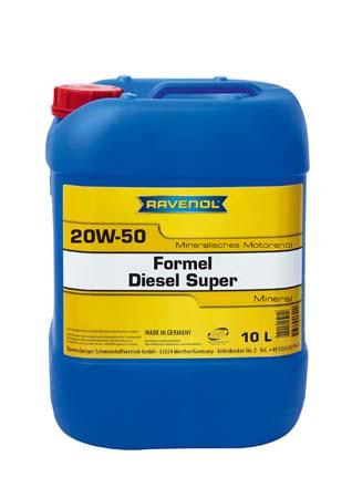 Моторное масло RAVENOL Formel Diesel Super 20W50 (10л) new