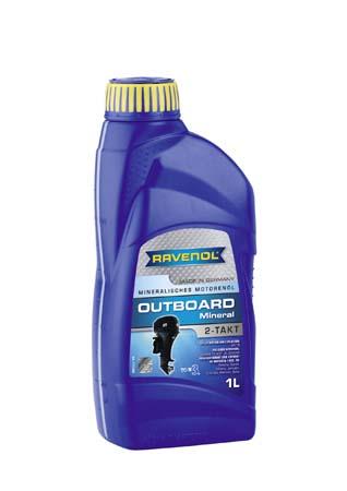 Моторное масло для 2Т лод.моторов RAVENOL Outboard 2T Mineral ( 1л) new