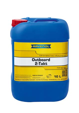 Моторное масло для 2Т лод.моторов RAVENOL Outboard 2T Mineral (10л) new