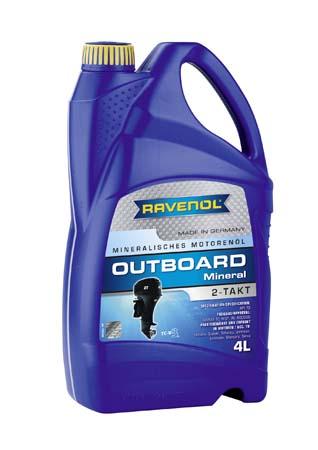 Моторное масло для 2Т лод.моторов RAVENOL Outboard 2T Mineral ( 4л) new
