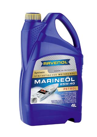 Моторное масло RAVENOL Marineoil PETROL 25W40 synthetic (4л) new