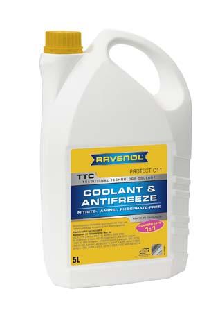 Антифриз концентрат жёлтый RAVENOL TTC Traditional Technology Coolant Concent ( 5л)