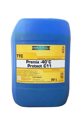 Антифриз готовый к прим. жёлтый RAVENOL TTC Traditional Technology Coolant Premix (20 л)