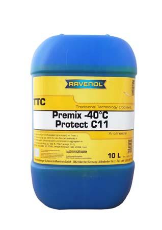 Антифриз готовый к прим. жёлтый RAVENOL TTC Traditional Technology Coolant Premix (10 л)