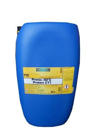 Антифриз готовый к прим. жёлтый RAVENOL TTC Traditional Technology Coolant Premix (60 л)