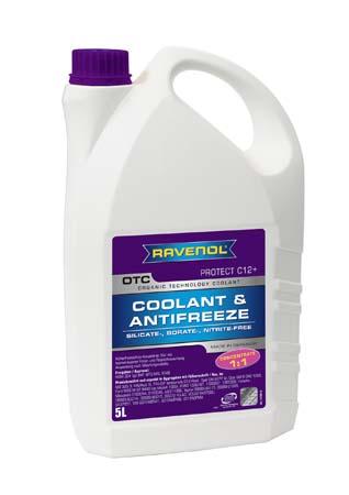 Антифриз концентрат лила RAVENOL OTC Organic Technology Concentrate ( 5л)
