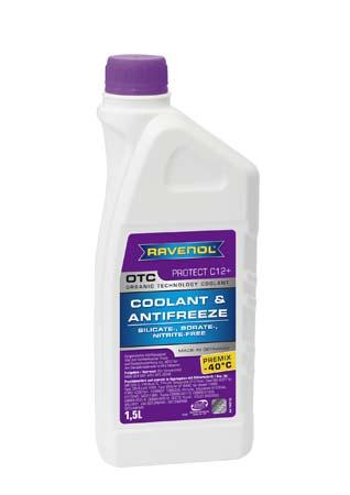 Антифриз готовый к прим. лила RAVENOL OTC Organic Techn.Coolant Premix -40°C ( 1,5л)