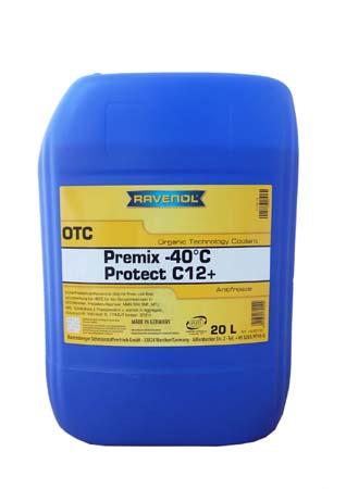 Антифриз готовый к прим. лила RAVENOL OTC Organic Techn.Coolant Premix -40°C (20л)