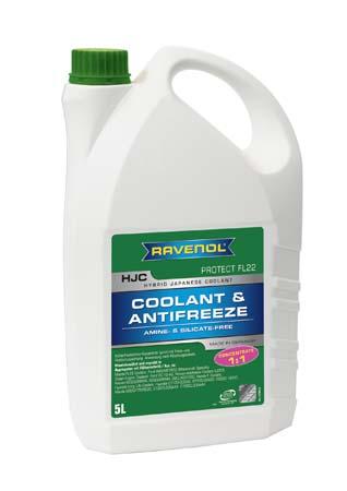 Антифриз концентрат зеленый RAVENOL HJC Hybrid Japanese Coolant Concentrate (5 л)