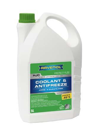Антифриз готовый к прим. зеленый RAVENOL HJC Hybrid Japanese Coolant Premix -40°C (5 л)