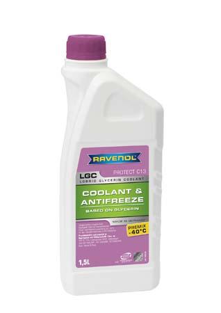 Антифриз готовый к прим. лила RAVENOL LGC Lobrid Glycerin Coolant Premix -40° C13 ( 1,5 л)