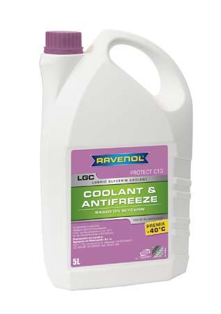 Антифриз готовый к прим. лила RAVENOL LGC Lobrid Glycerin Coolant Premix -40° C13 ( 5 л)