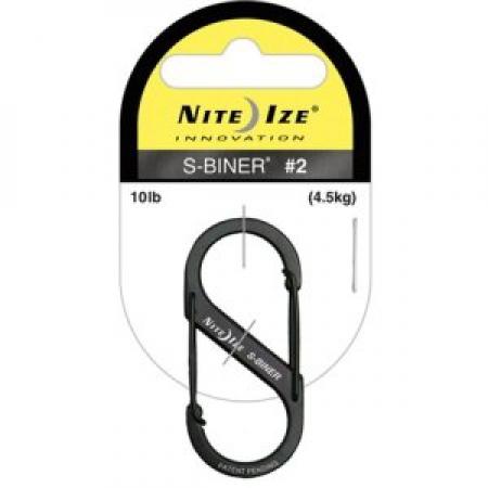Карабин металлический NiteIze S-Biner, размер 2, черный