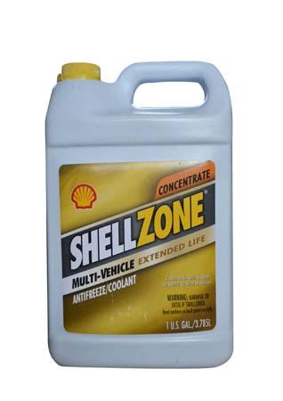 Антифриз концентрированный, желтый SHELL Zone Multi-Vehicle Antifreeze/Coolant Extended Life Concent