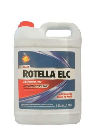 Антифриз готовый к прим. красный SHELL Rotella ELC Extended Life Coolant Pre-diluted 50/50 (3,785л)