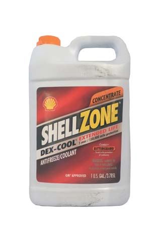 Антифриз концентрированный, оранжевый SHELL Zone Dexcool Extended Life Antifreeze/Coolant (3,785л)