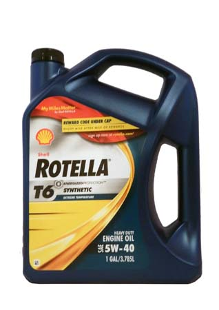 Моторное масло SHELL Rotella T6 SAE 5W-40 (3,785л)