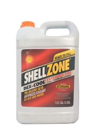 Антифриз готовый к прим. оранжевый SHELL Zone Dexcool Extended Life Antifreeze/Coolant Pre-Diluted 5