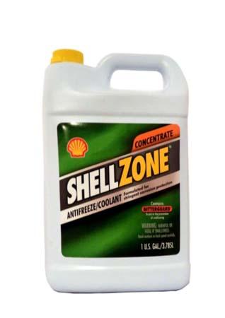 Антифриз концентрированный, зеленый SHELL Zone Antifreeze/Coolant (Conventional) (3,785л)