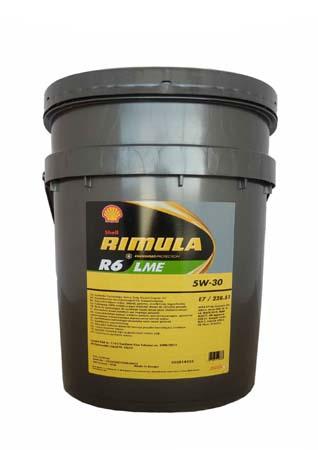 Моторное масло SHELL Rimula R6 LME SAE 5W-30 (20л)