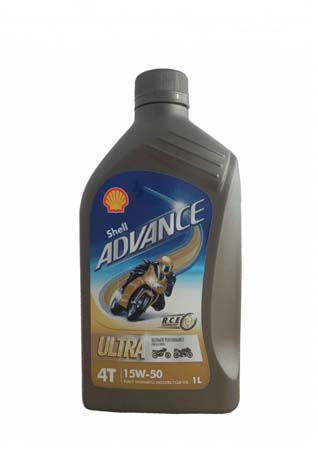 Моторное масло для 4-Такт SHELL Advance 4T Ultra SAE 15W-50 (1л)