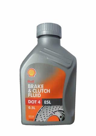 Тормозная жидкость SHELL Brake & Clutch Fluid DOT4 ESL (0,5л)