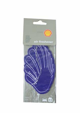 Освежитель воздуха на бумажной основе-лаванда SHELL Airfreshener - Lavender