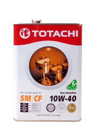 Моторное масло TOTACHI Eco Gasoline Semi-Synthetic SM/CF SAE 10W-40 (4л)