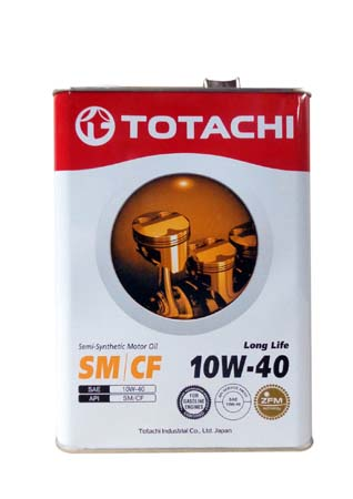 Моторное масло TOTACHI Long Life Semi-Synthetic SM/CF SAE 10W-40 (4л)