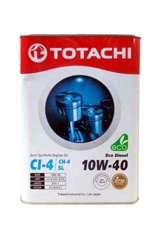 Моторное масло TOTACHI Eco Diesel Semi-Synthetic CI-4/CH-4/SL SAE 10W-40 (6л)