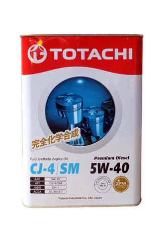 Моторное масло TOTACHI Premium Diesel Fully Synthetic CJ-4/SM SAE 5W-40 (6л)
