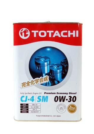 Моторное масло TOTACHI Premium Economy Diesel Fully Synthetic CJ-4/SM SAE 0W-30 (6л)
