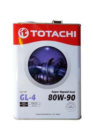 Трансмиссионное масло TOTACHI Super Hypoid Gear GL-5 SAE 80/90 (4л)