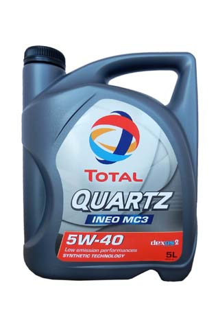 Моторное масло TOTAL QUARTZ INEO MC3, 5W-40, 5л, 174777