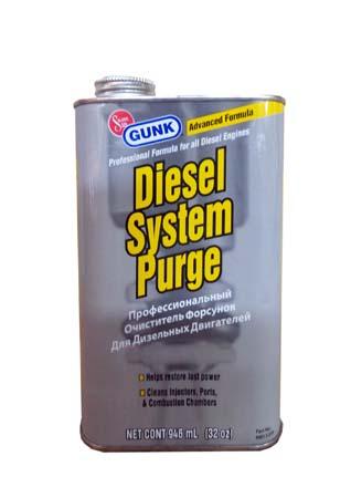 Проф.очиститель форсунок диз.двиг. GUNK Diesel System Purge 946ml. (0,946л)
