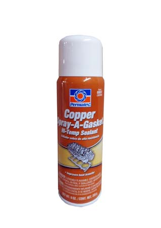 Герметик-усилитель прокладок PERMATEX Copper Spray-A-Gasket Gasket Hi-Temp Adhesive Sealant (255гр)