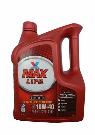 Моторное масло VALVOLINE Maxlife SAE 10W-40 (4л)