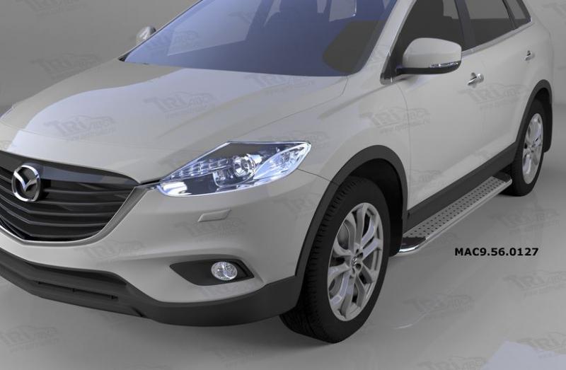 Пороги алюминиевые (Opal) Mazda (Мазда) CX9 (2013-), MAC9560127