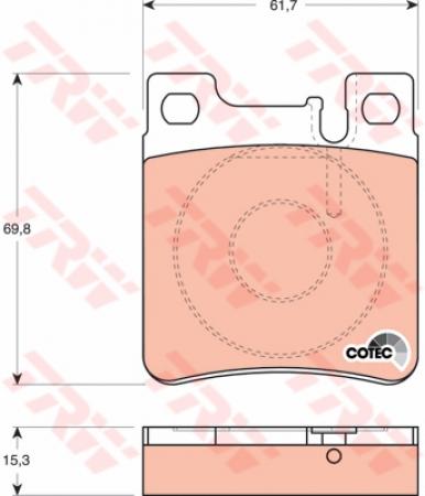 Колодки дисковые Задние, TRW, GDB1123