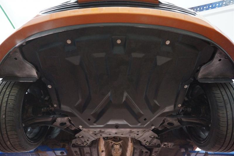 Защита картера двигателя и кпп Hyundai Veloster (V-1,6 АКПП, 2012-) (Композит 6 мм), 1014K