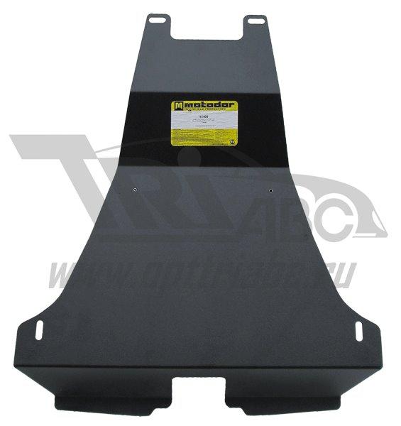 Защита заднего бампера Nissan X-Trail II 2007-2014 V=2,0D, 2,0i, 2,5i (сталь 2 мм), MOTODOR61406