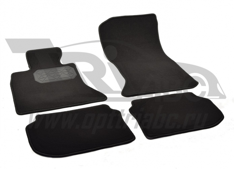 Коврики салона текстильные BMW 5 F10 (2010-2013) (Велюр, полиамид)(подпятник п/у)(черные), NPLVTE070