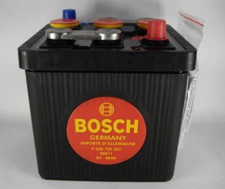 Аккумуляторная батарея Bosch Classic, 6 В, 66 А/ч, 360 А, F026T02302