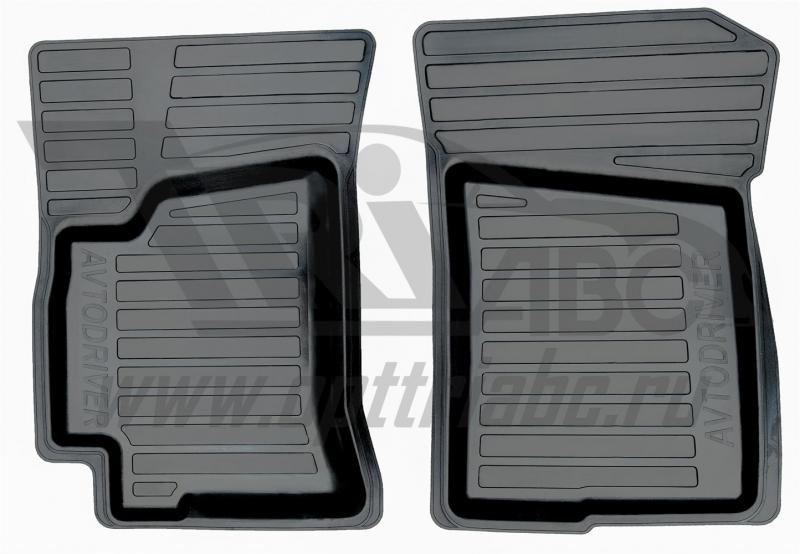 Коврики салона резиновые с бортиком для Chevrolet Lanos (2005-) (2 передних), ADRAVG0302
